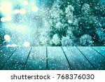 christmas table background. new ... | Shutterstock . vector #768376030