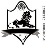 icon title lion  file eps.8...   Shutterstock .eps vector #76838617