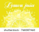 citron freshness background....   Shutterstock .eps vector #768387460