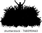 dancing people silhouettes.   Shutterstock .eps vector #768390463