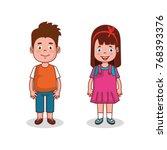 little kids group avatars... | Shutterstock .eps vector #768393376