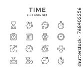 set line icons of time | Shutterstock .eps vector #768402256
