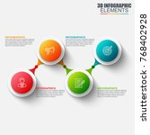 presentation business 3d... | Shutterstock .eps vector #768402928