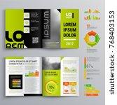 business brochure template...   Shutterstock .eps vector #768403153