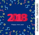 2018 new year on the background ...   Shutterstock .eps vector #768404380