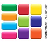 colorful set of square and... | Shutterstock .eps vector #768404809