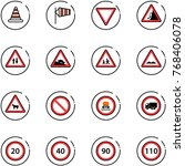 line vector icon set   road... | Shutterstock .eps vector #768406078