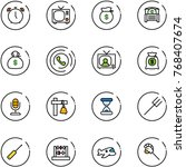 line vector icon set   alarm... | Shutterstock .eps vector #768407674