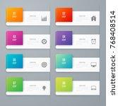 business infographics template... | Shutterstock .eps vector #768408514