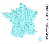 abstract graphic france map of... | Shutterstock .eps vector #768409000