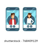 dating applications concept.... | Shutterstock .eps vector #768409129