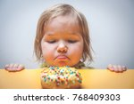 diet for kids. sad and unhappy... | Shutterstock . vector #768409303