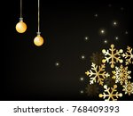 christmas background and... | Shutterstock .eps vector #768409393