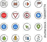 line vector icon set   elevator ... | Shutterstock .eps vector #768409774