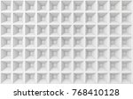 abstract square white geometric ... | Shutterstock . vector #768410128