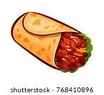 burrito. element of restaurant... | Shutterstock .eps vector #768410896