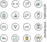 line vector icon set   floor... | Shutterstock .eps vector #768414220