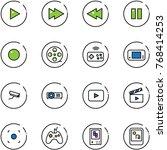 line vector icon set   play...   Shutterstock .eps vector #768414253