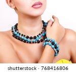 beautiful girl dressed in... | Shutterstock . vector #768416806