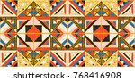 seamless geometric african... | Shutterstock .eps vector #768416908