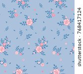 seamless floral pattern.... | Shutterstock .eps vector #768417124