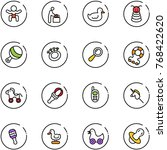 line vector icon set   baby... | Shutterstock .eps vector #768422620