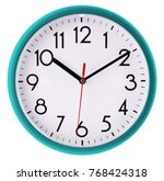 wall clock isolated on white... | Shutterstock . vector #768424318