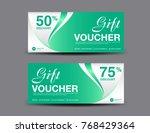 green gift voucher template ... | Shutterstock .eps vector #768429364