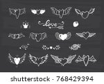 love vector set. beautiful... | Shutterstock .eps vector #768429394