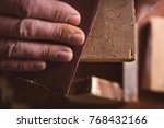 amateur carpenter uses...   Shutterstock . vector #768432166