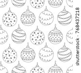 vector seamless pattern of hand ... | Shutterstock .eps vector #768437218