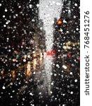 Blurred New York City Street...