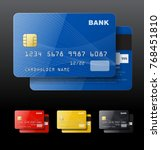 set of credit cards isolated on ... | Shutterstock .eps vector #768451810
