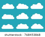 set of clouds. cloud icon.... | Shutterstock .eps vector #768453868
