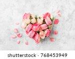 a beautiful heart made of ... | Shutterstock . vector #768453949
