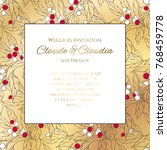 invitation or greeting card... | Shutterstock .eps vector #768459778