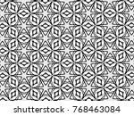 black and white mosaic pattern... | Shutterstock . vector #768463084