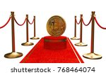 the first figure in the golden... | Shutterstock . vector #768464074