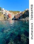 amazing town of riomaggiore at... | Shutterstock . vector #768464908