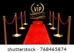golden vip invitation  laurel... | Shutterstock . vector #768465874