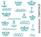 vector illustration set of... | Shutterstock .eps vector #768470419