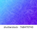 abstract vector topographic map ... | Shutterstock .eps vector #768470743
