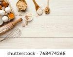 cooking ingredients background. ... | Shutterstock . vector #768474268