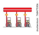 gas station isolated on white... | Shutterstock .eps vector #768475306