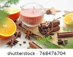 oranges with anisestars ... | Shutterstock . vector #768476704