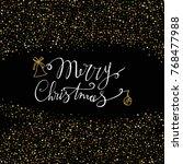 merry christmas handmade...   Shutterstock .eps vector #768477988