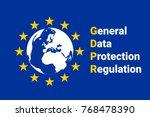 gdpr   general data protection... | Shutterstock .eps vector #768478390