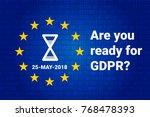 gdpr   general data protection... | Shutterstock .eps vector #768478393