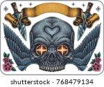 hand drawn tattoo set of... | Shutterstock .eps vector #768479134