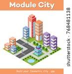 isometric urban skyscraper... | Shutterstock .eps vector #768481138